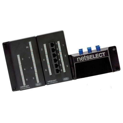 Net Select, Module, Combo, Telephone/Video, 6-Port