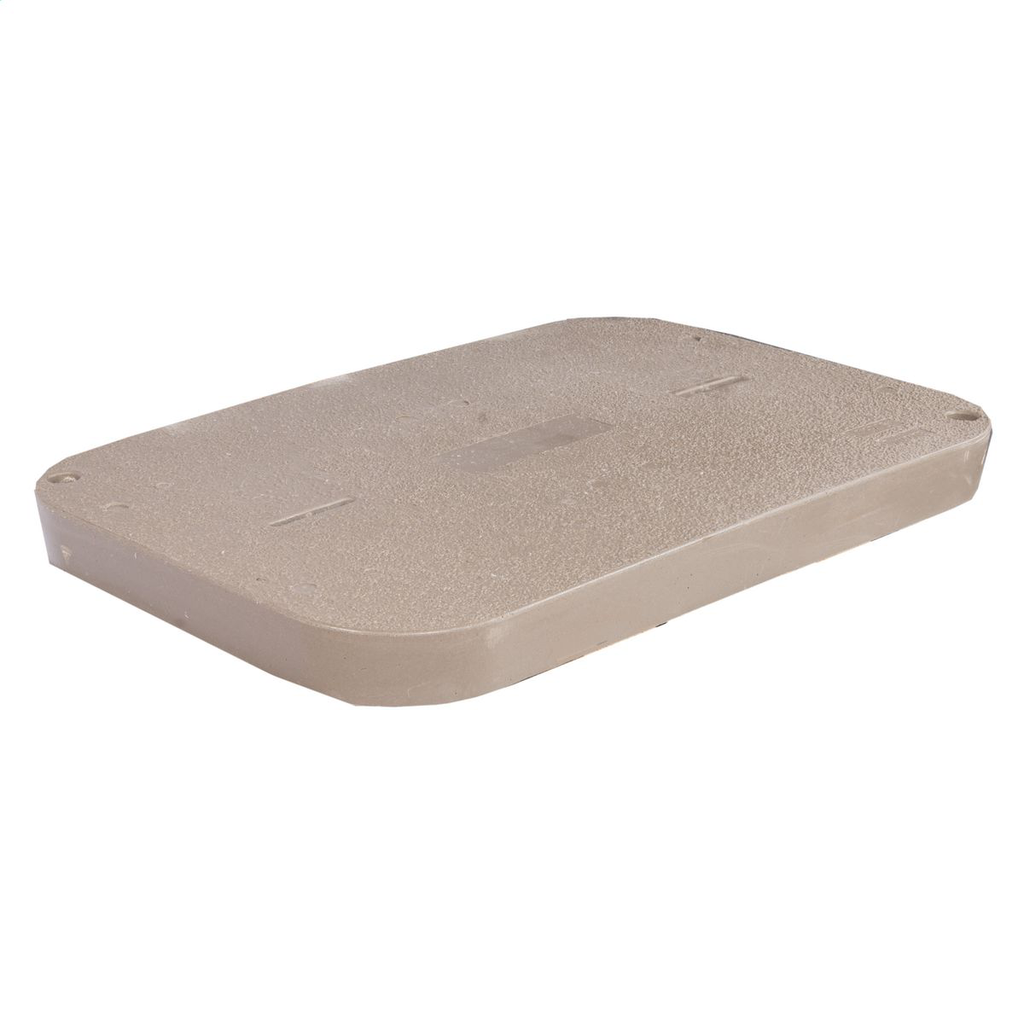 Quazite PG1730HA0017 17 x 30 Inch Gray Polymer Concrete Heavy Duty Underground Enclosure Cover