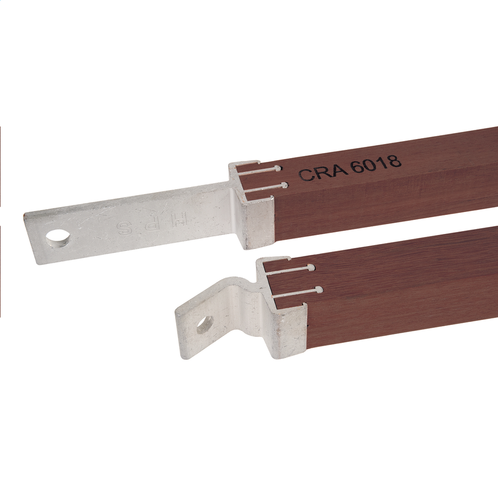 APITONG WOOD CROSSARM BRACE, 1-3/4in PROFILE, 48in SPAN x 18in DROP, SOLD AS PAIR