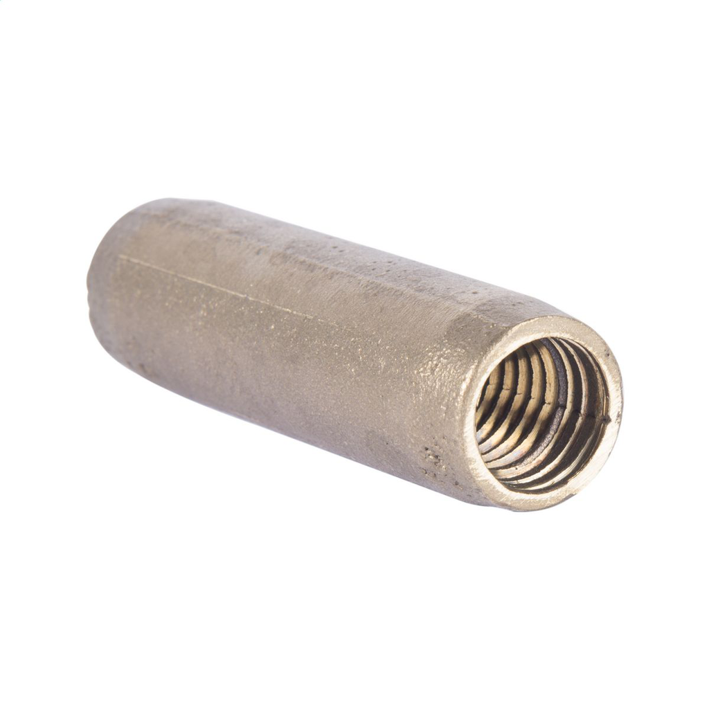 THREADED, COPPER-BONDED GROUND ROD COUPLING, 1/2in