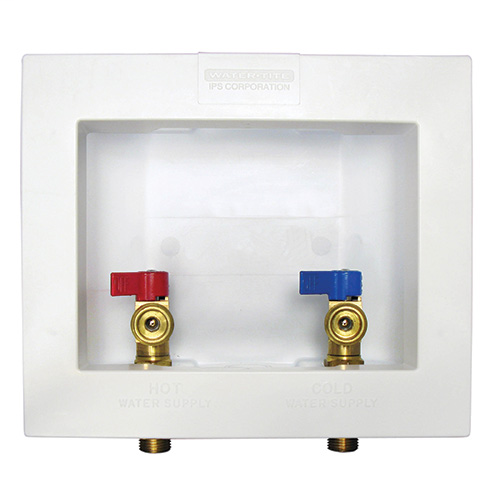 Econo Center Drain Outlet Boxes, Contractor Pack, Brass 1/4 turn valves, installed – 1/2? CPVC conx
