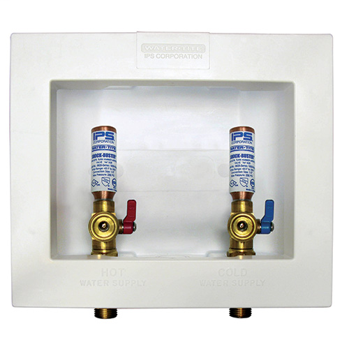 Econo Center Drain Outlet Boxes, Standard Pack, Brass 1/4 turn valves, installed – 1/2? sweat conx.