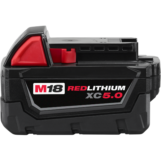 Milwaukee Tool 48-11-1850 M18 Red Lithium XC5.0 Extended Capacity Battery Pack