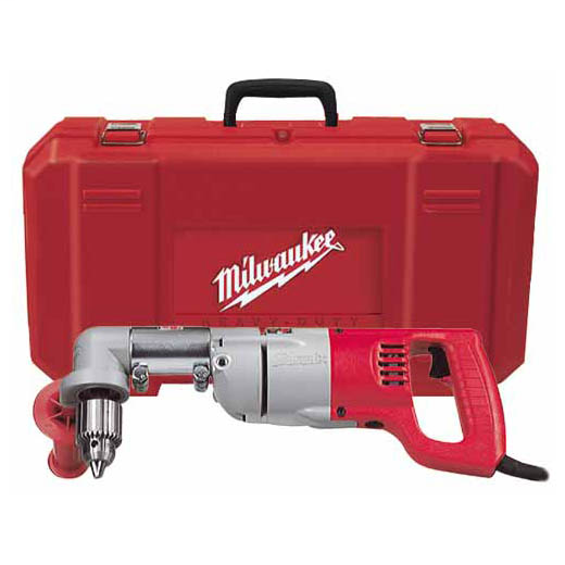 Milwaukee Tool 3002-1 120 VAC 7 Amp 1/2 Inch 600 RPM Keyed Corded D-Handle Right Angle Drill Kit
