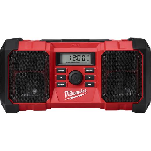 Milwaukee Tool 2890-20 18 Volt 7.7 x 15.8 x 7.75 Inch Jobsite Radio