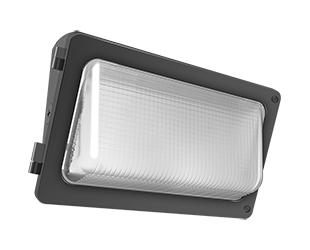 W34 Wallpack 50W,5400Lm LED, 120-277V, 5000k, 80 CRI, Bronze