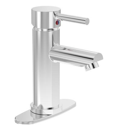 Dia Single Handle Round Faucet, Polished Chrome, SLS-3510-DP4-1.5