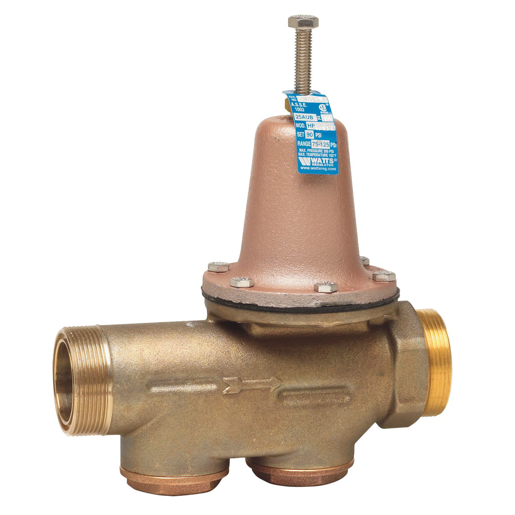1 1/4 In Lead Free Water Pressure Reducing Valve, Double Union, Npt Female, Ss Seat, Adjustable 25-75 psi, No Fittings