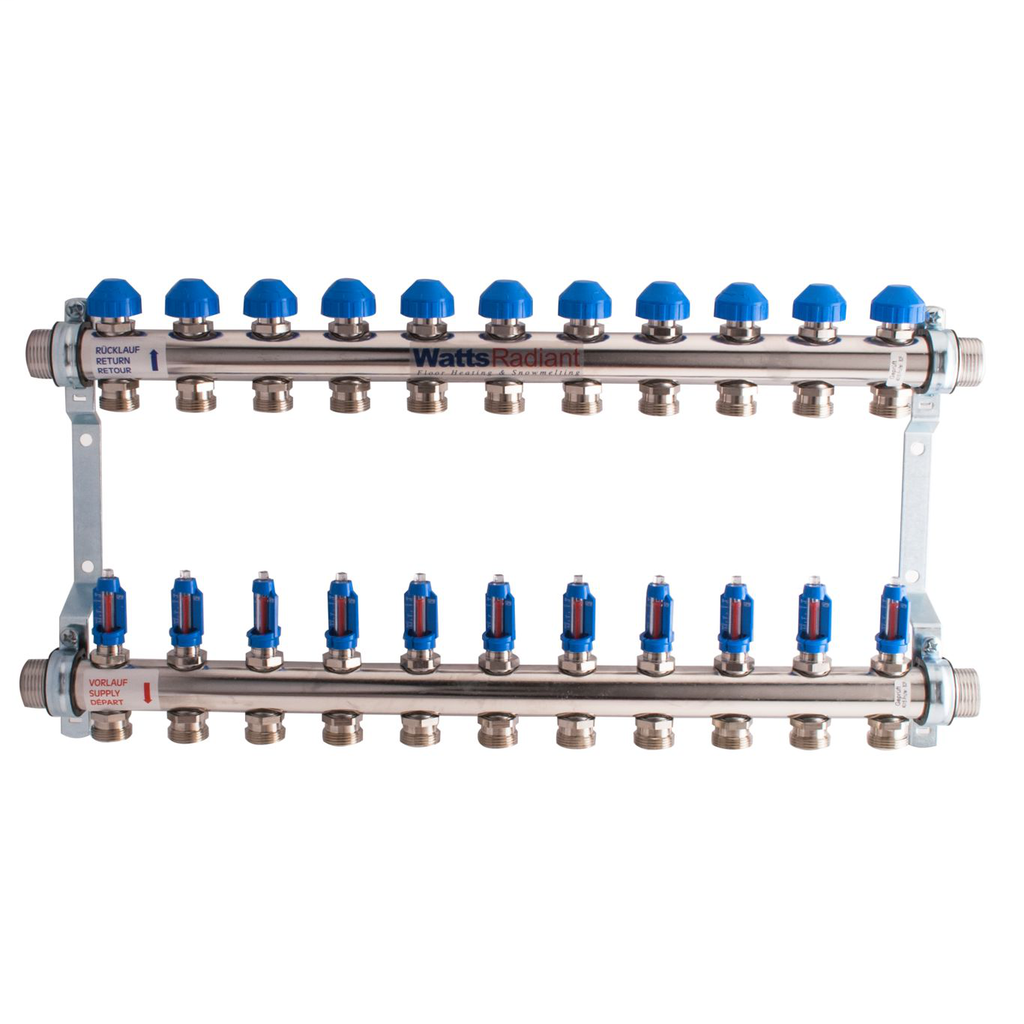 1 In Stainless Steel Manifold, 10 Circuits