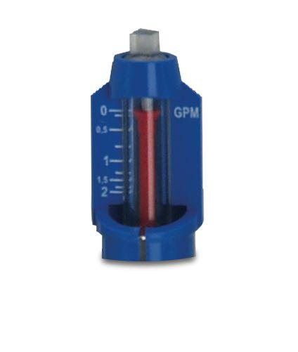 1 IN SS Manifold Replacement Flowmeter/Shutoff Valve, 0-2 GPM