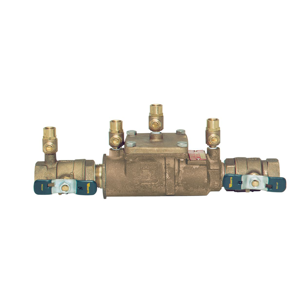 1 1/4 In Bronze Double Check Valve Assembly Backflow Preventer, Less Shutoff, UL Classified, Single Top Entry