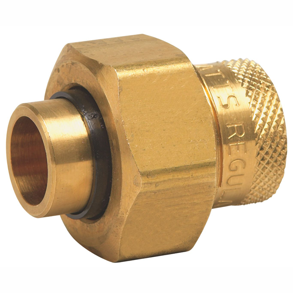 1 In Lead Free Dielectric Union, Female Brass Pipe Thread To Female Solder Connection
