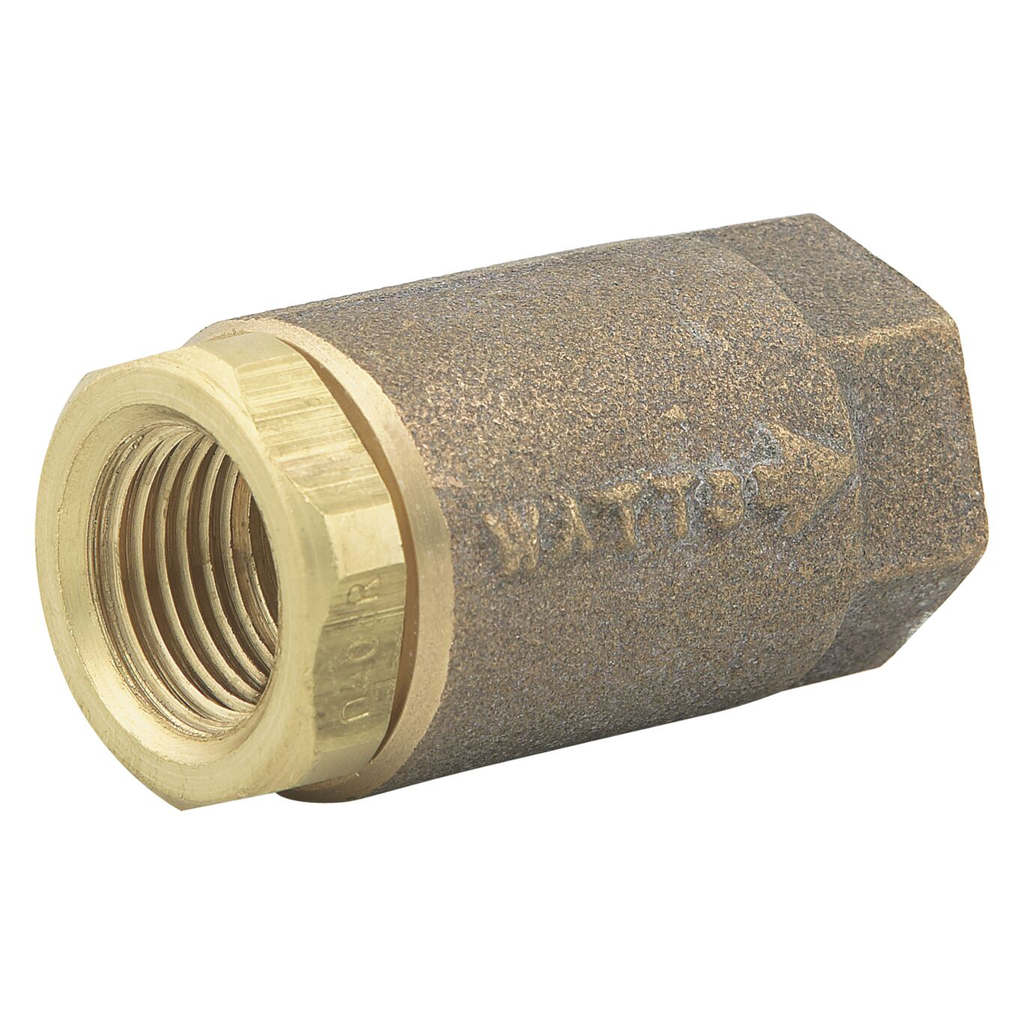 1 In Lead Free Brass Silent Check Valve, PTFE Seat