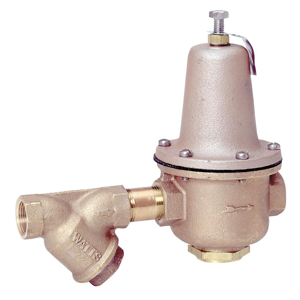 1 1/2 In Lead Free Brass High Capacity Water Pressure Reducing Valve, FNPT, Inlet Strainer
