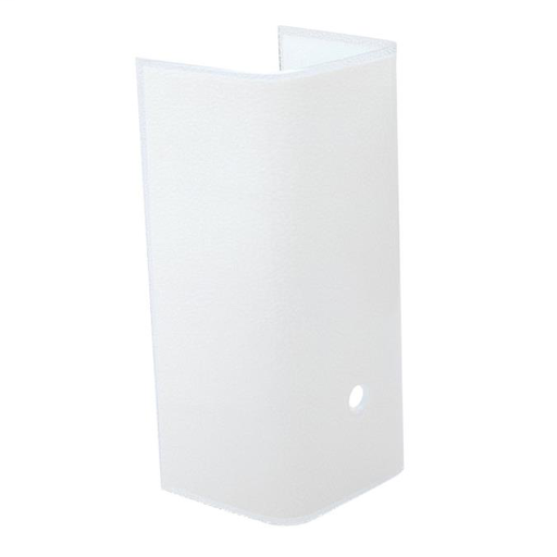 7-1/2-Inch White Channel Glass