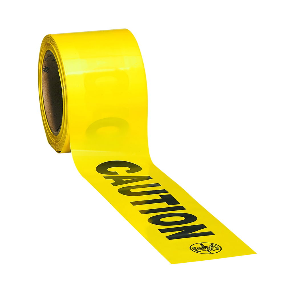 Klein Tools 58000 3 Inch x 200 Foot Roll Bright Yellow/Black Polyethylene Barricade and Warning Tape