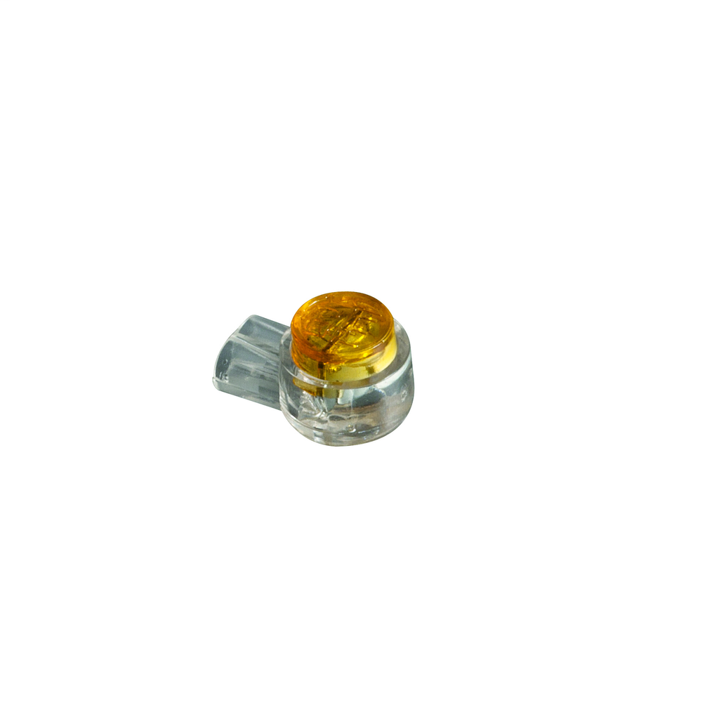 Klein Tools VDV826-604 UY Yellow 2-Position and 2-Contact 2-Wire 26 to 22 AWG Insulation Displacement Connector