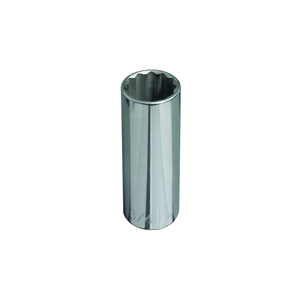 Klein Tools 65829 1/2 Inch Drive 3/4 Inch Deep 12-Point Socket