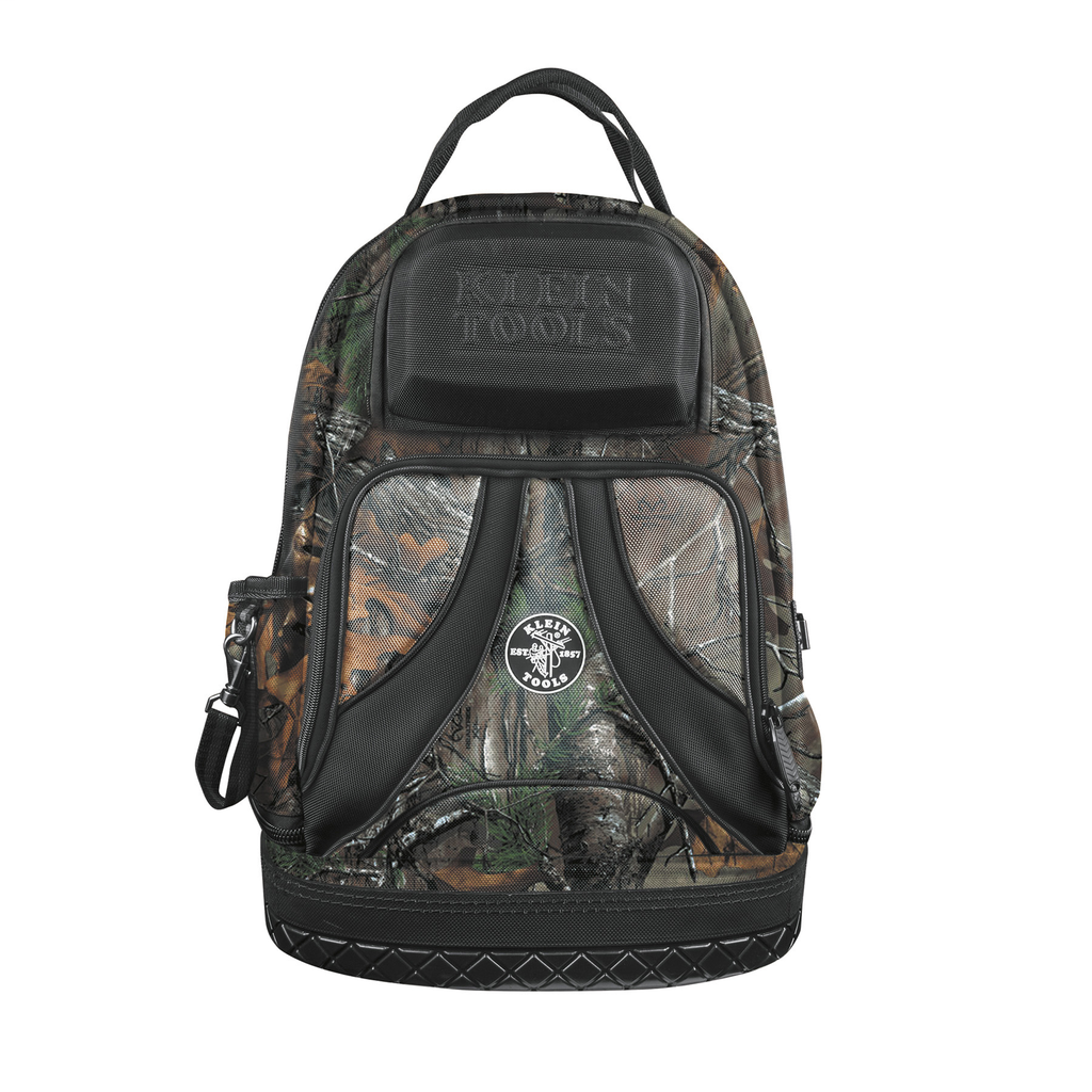 Klein Tools 55421BP14CAMO 14.5 x 7.25 x 20 Inch 39-Pocket Electrician Backpack Tool Bag