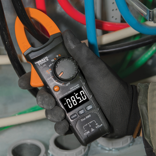 Digital Electrical Tester, AC/DC Clamp Meter, Auto-Ranging, 400 Amp