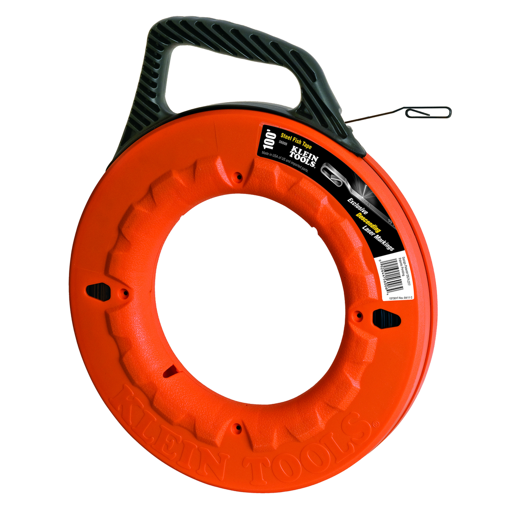 Klein Tools 56006 100 Foot x 1/4 x 0.062 Inch Wide Steel Fish Tape