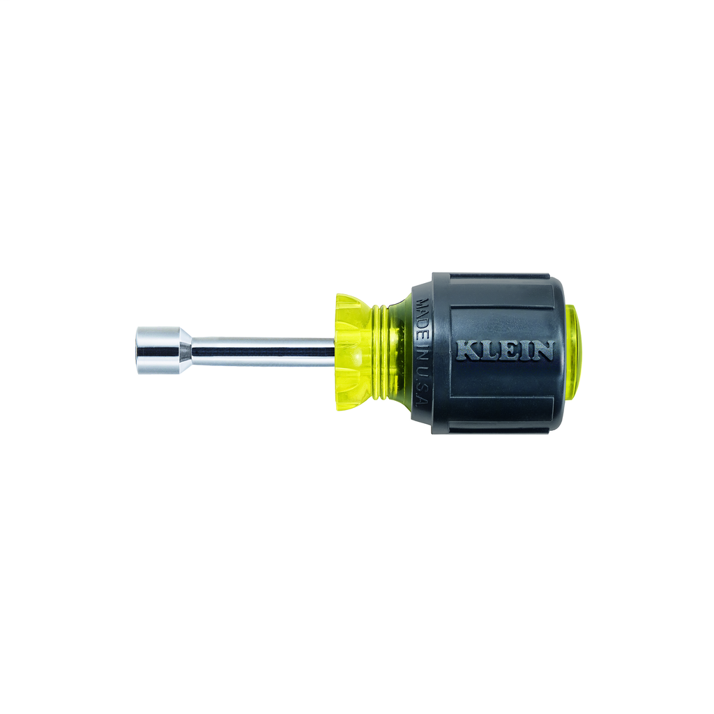Klein Tools 610-5/16M 5/16 x 3-1/2 Inch Yellow Magnetic Tip Hollow-Shaft Nutdriver