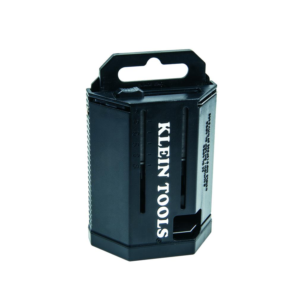 Klein Tools 44103 4.33 x 2.8 x 1.3 Inch Utility Knife Blade Dispenser
