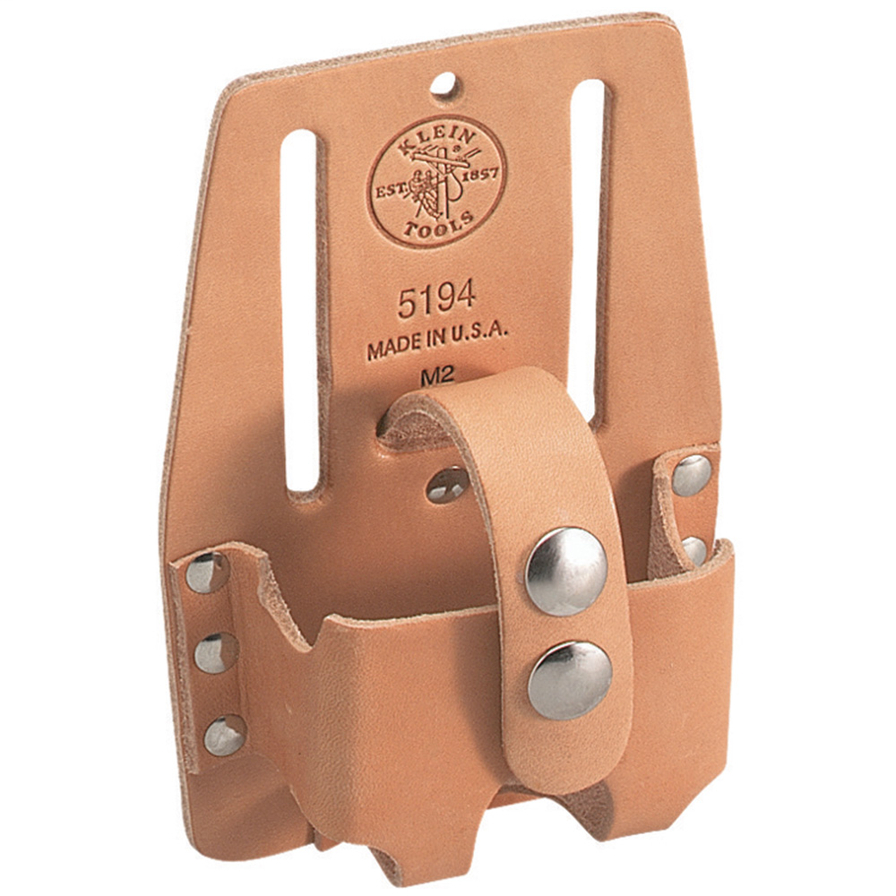 Klein Tools 5194 4 x 6 Inch Slotted Leather Small Tape Rule Holder