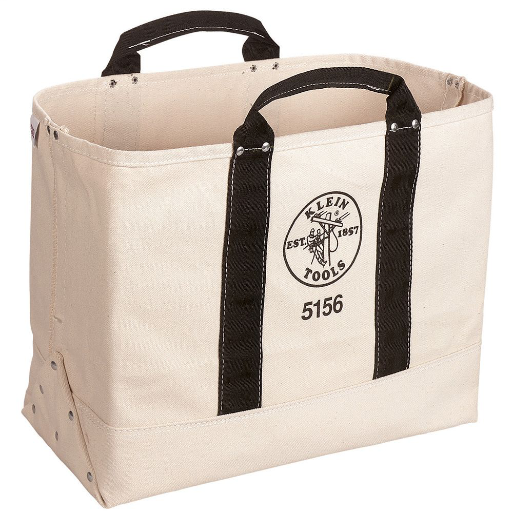 Klein Tools 5156 19 x 15 x 9 Inch Canvas Tote Tool Bag
