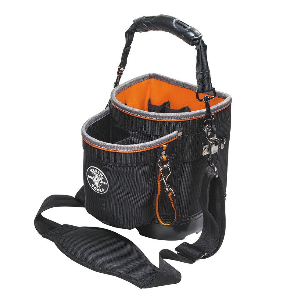 Klein Tools 55419SP-14 8 x 5 x 10 Inch Orange Interior 16-Pocket Shoulder Pouch