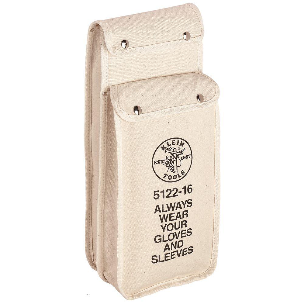 Klein Tools 5122-16 8 x 16 Inch Canvas Gloves Bag