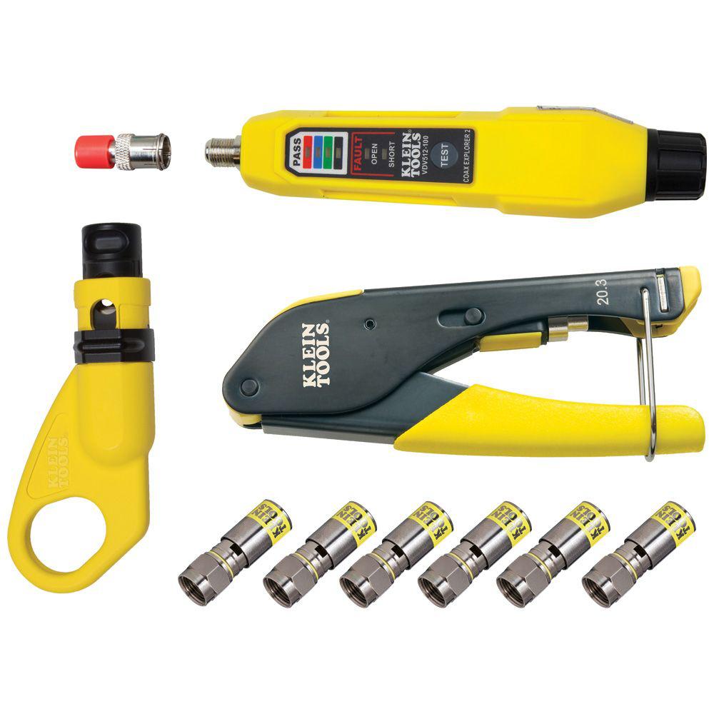 Klein VDV002-818 Coax Installation & Test Kit