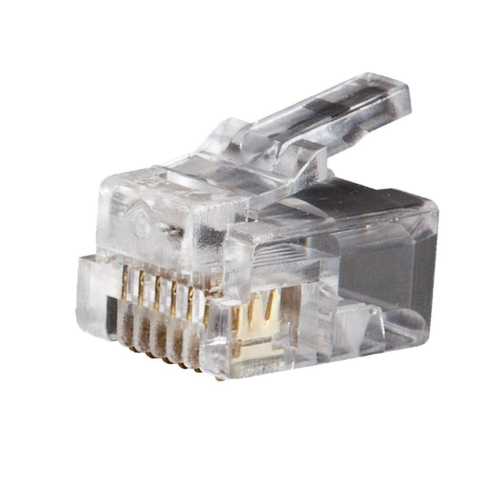 Klein Tools VDV826-600 RJ11 6-Position and 6-Contact Clear Telephone Plug
