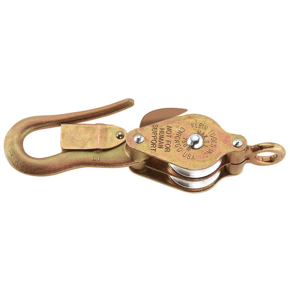 Klein Tools H268 Galvanized Steel/Aluminum Alloy Hook Rope Block