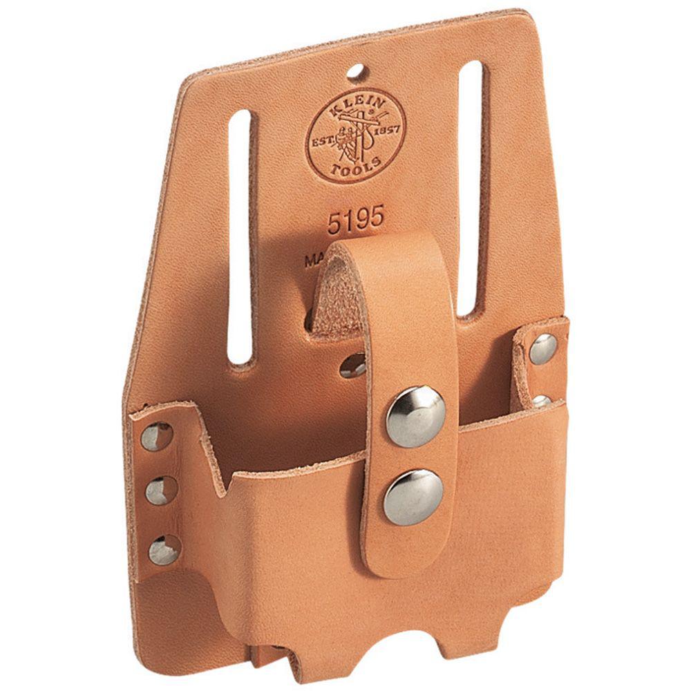 Klein Tools 5195 4-1/2 x 7 Inch Medium Leather Tape Rule Holder