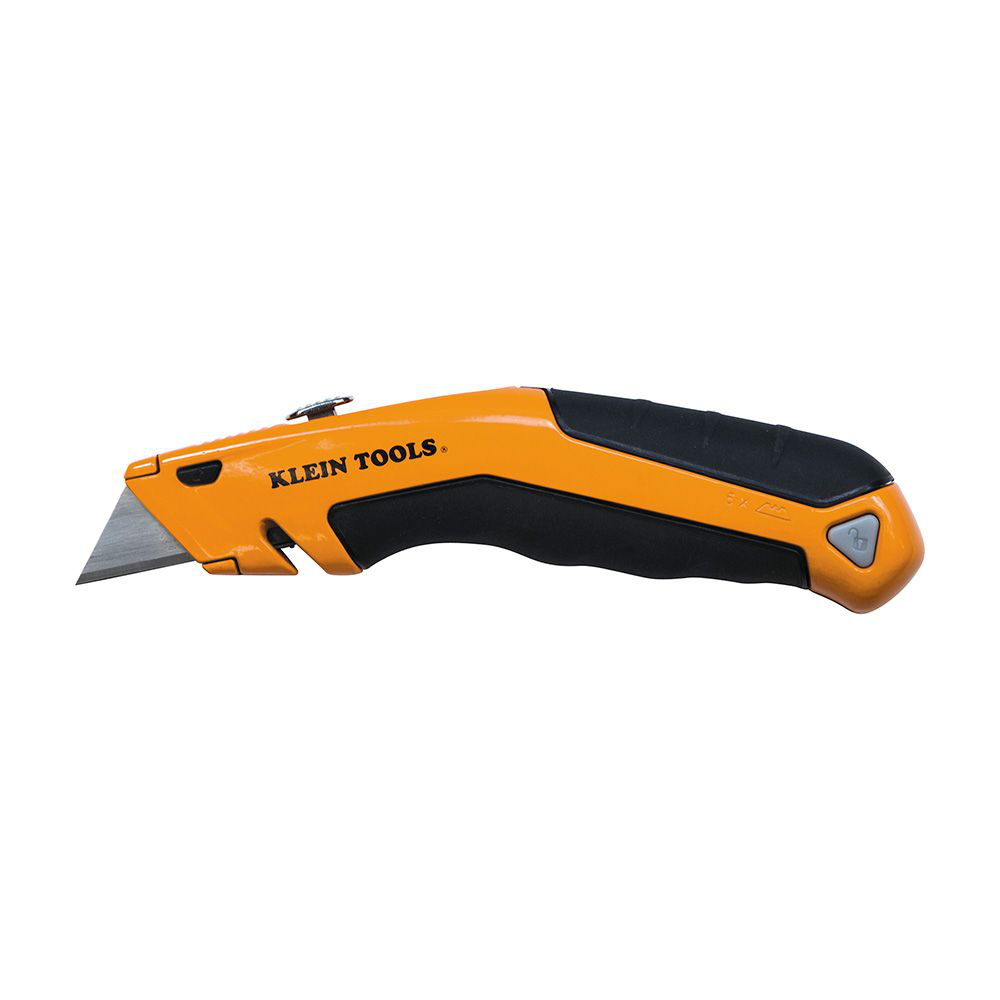 Klein 44133 7 x 6.875 Inch Yellow Handle Retractable Utility Knife