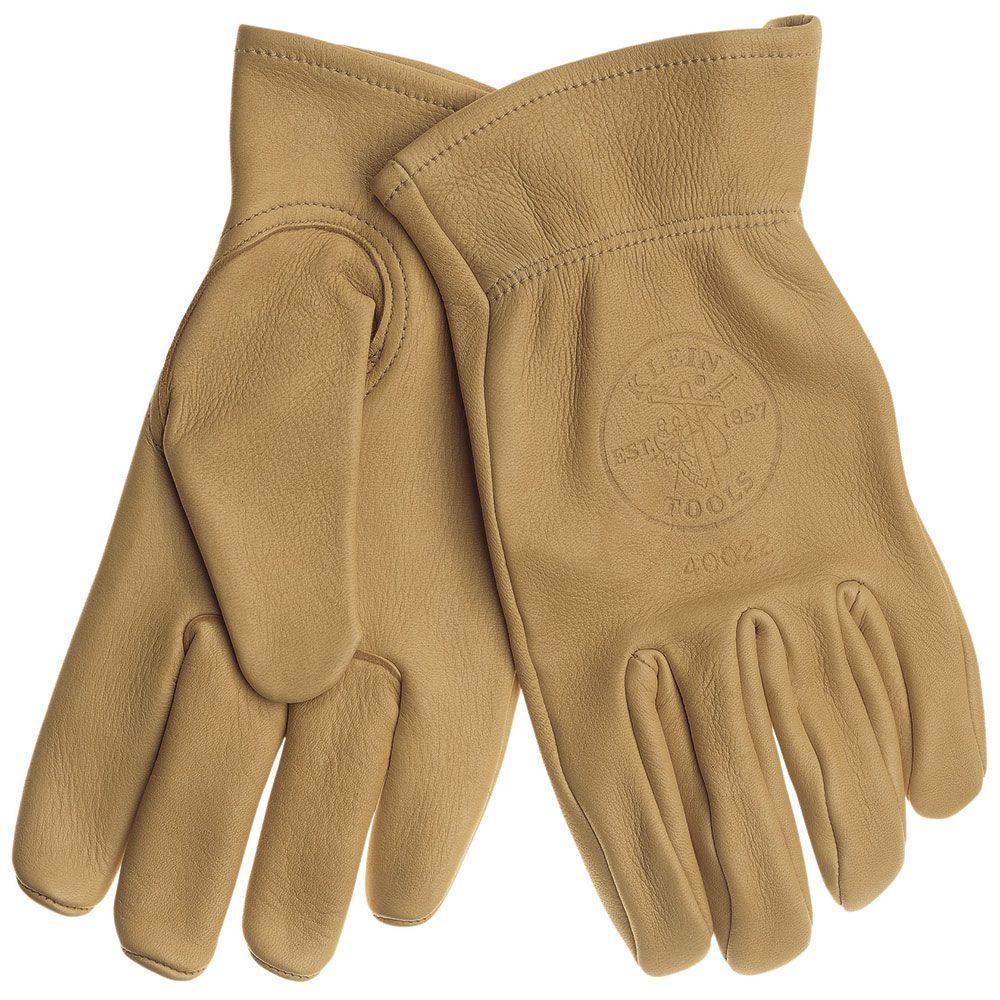 Klein 40021 Cowhide Work Gloves - Medium