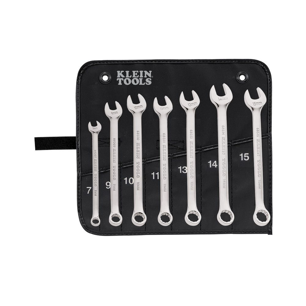 Klein 68500 7pc Metric Combination Wrench Set