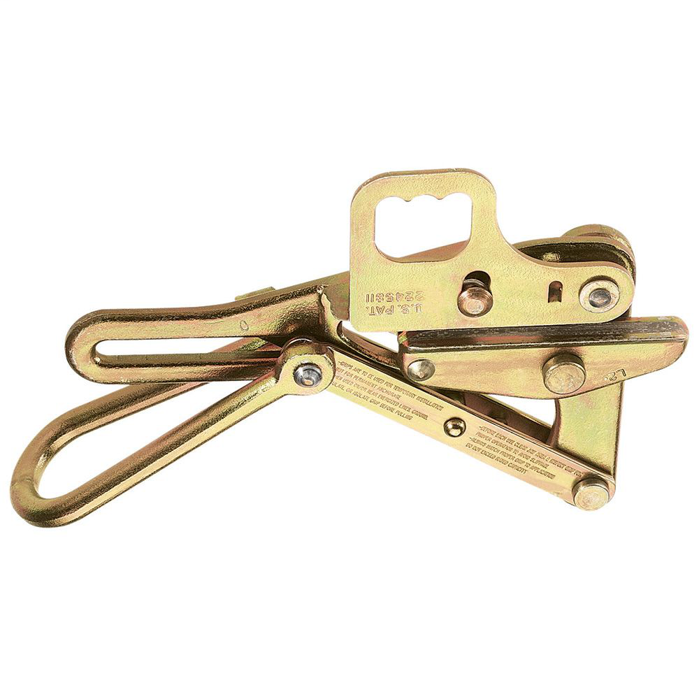Klein Tools 1656-50H 0.74 to 0.86 Inch 8000 lb Forged Steel Wire Pulling Grip with Hot Line Latch