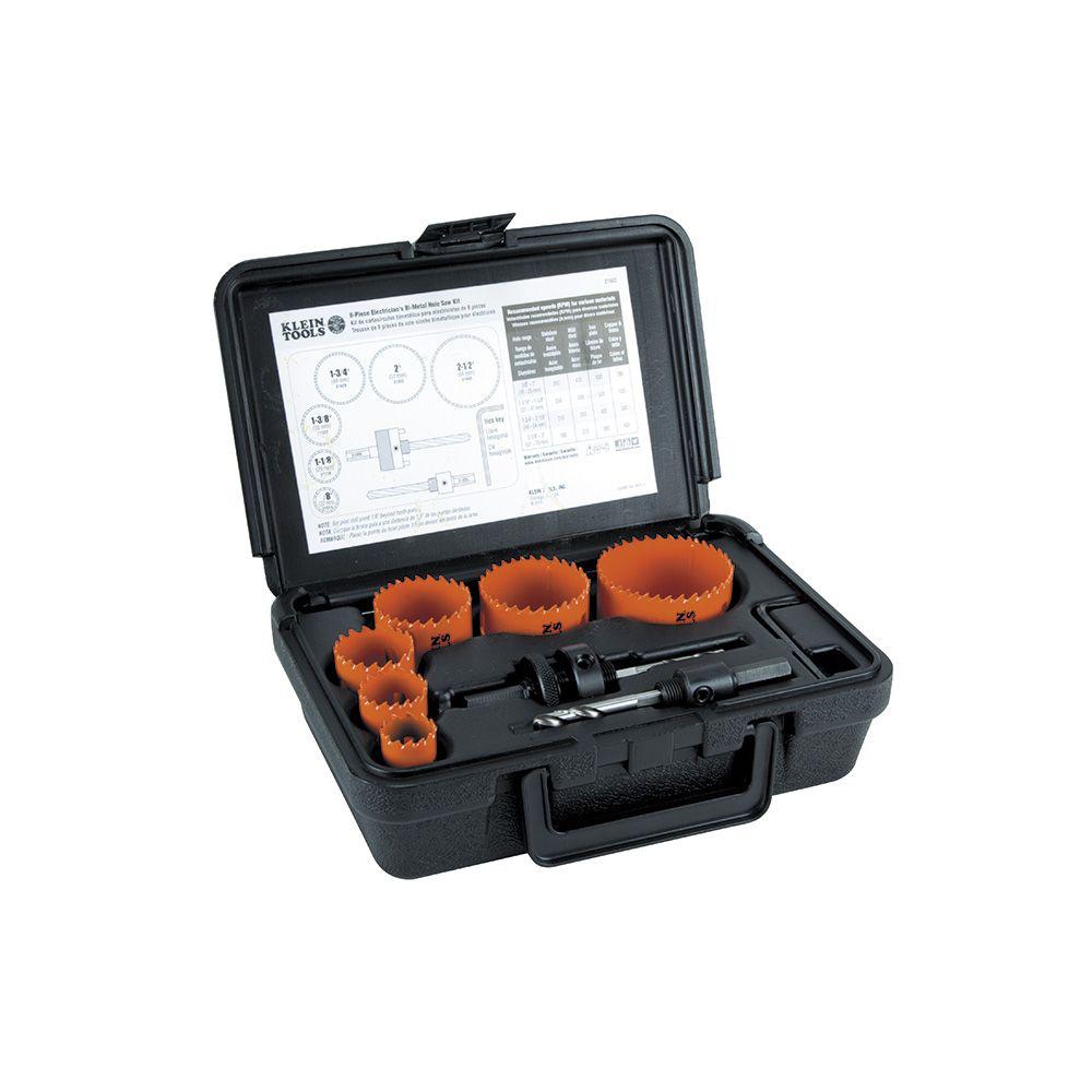 Klein 31902 8pc Bi-Metal Hole Saw Kit
