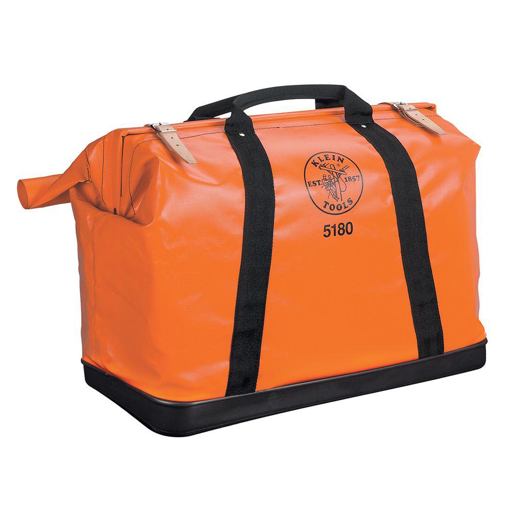 Klein Tools 5180 24 x 18 x 10 Inch Orange Nylon Fabric Extra Large Equipment Bag