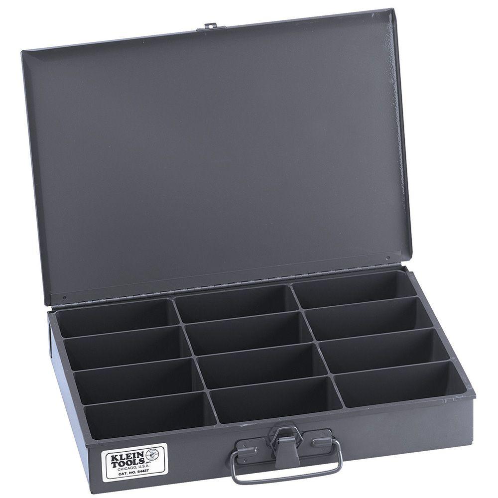 Klein 54437 Mid-Size 12-Compartment Storage Box