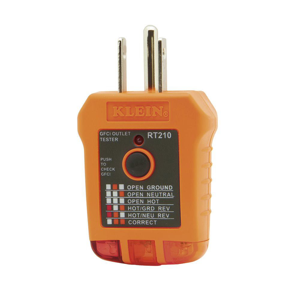 Klein RT210 GFCI Receptacle Tester