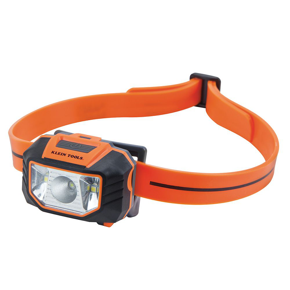 Klein 56220 6 Foot Drop 150 Lumen AAA Battery Silicone Strap Headlamp