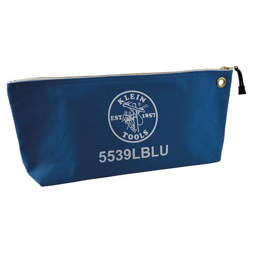 Mayer-Canvas Bag with Zipper, Large Blue-1