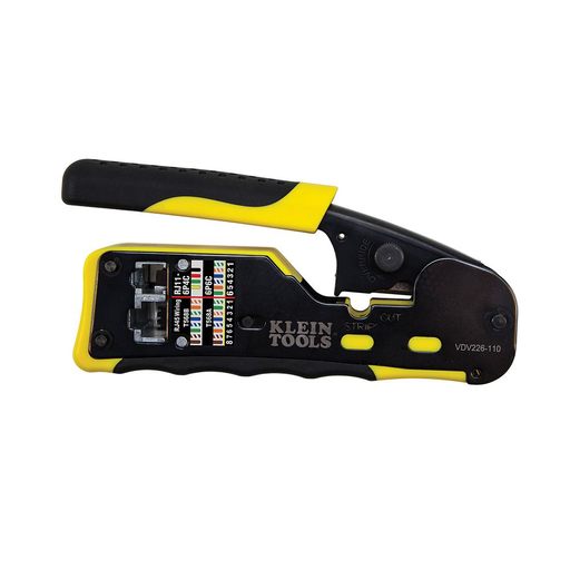 Mayer-Ratcheting Cable Crimper / Stripper / Cutter, for Pass-Thru™-1