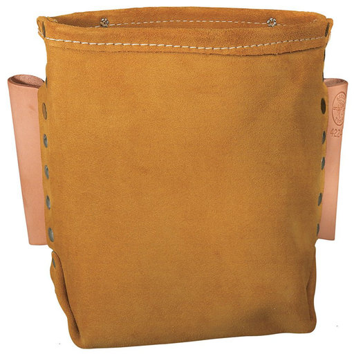 Leather Bolt Bag / Tool Pouch /Tool Bag, 5 x 8.5 x 8.5-Inch
