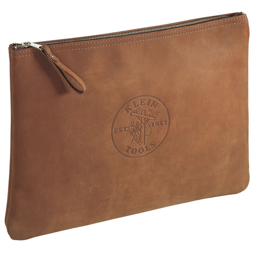Zipper Bag, Contractor's Leather Portfolio