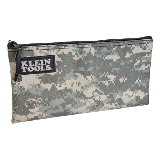 Zipper Bag, Camouflage Cordura Nylon Tool Pouch, 12-1/2-Inch