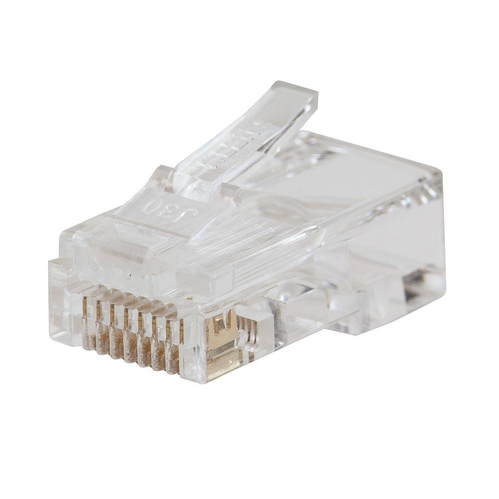 Klein VDV826-703 Pass-Thru™ Modular Data Plug, CAT6, 50-Pack